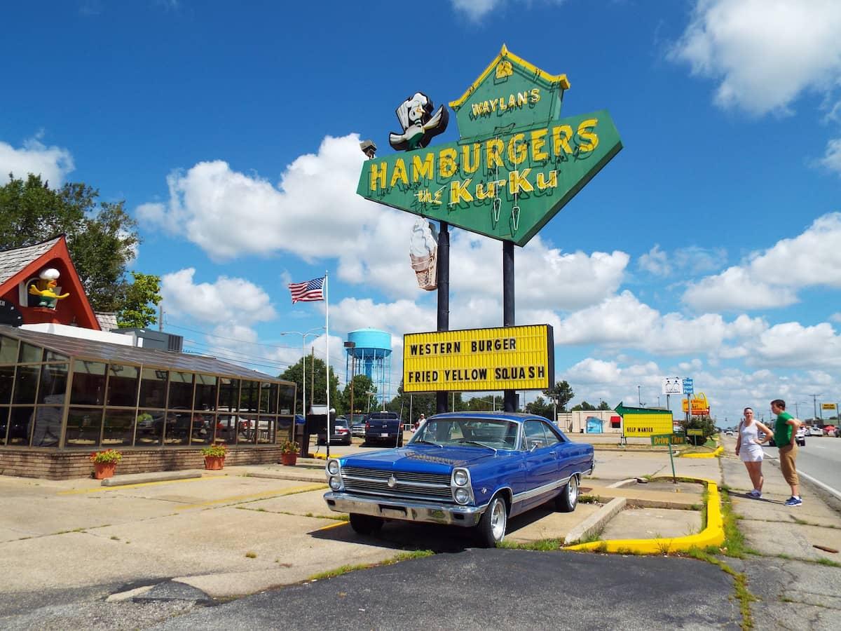 Waylans Ku Ku Burger Classic 50s diner in Miami Oklahoma