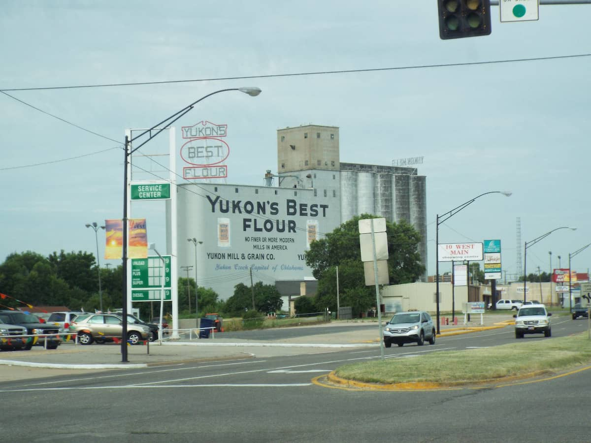 A large flour mill in Yukon Oklahoma
