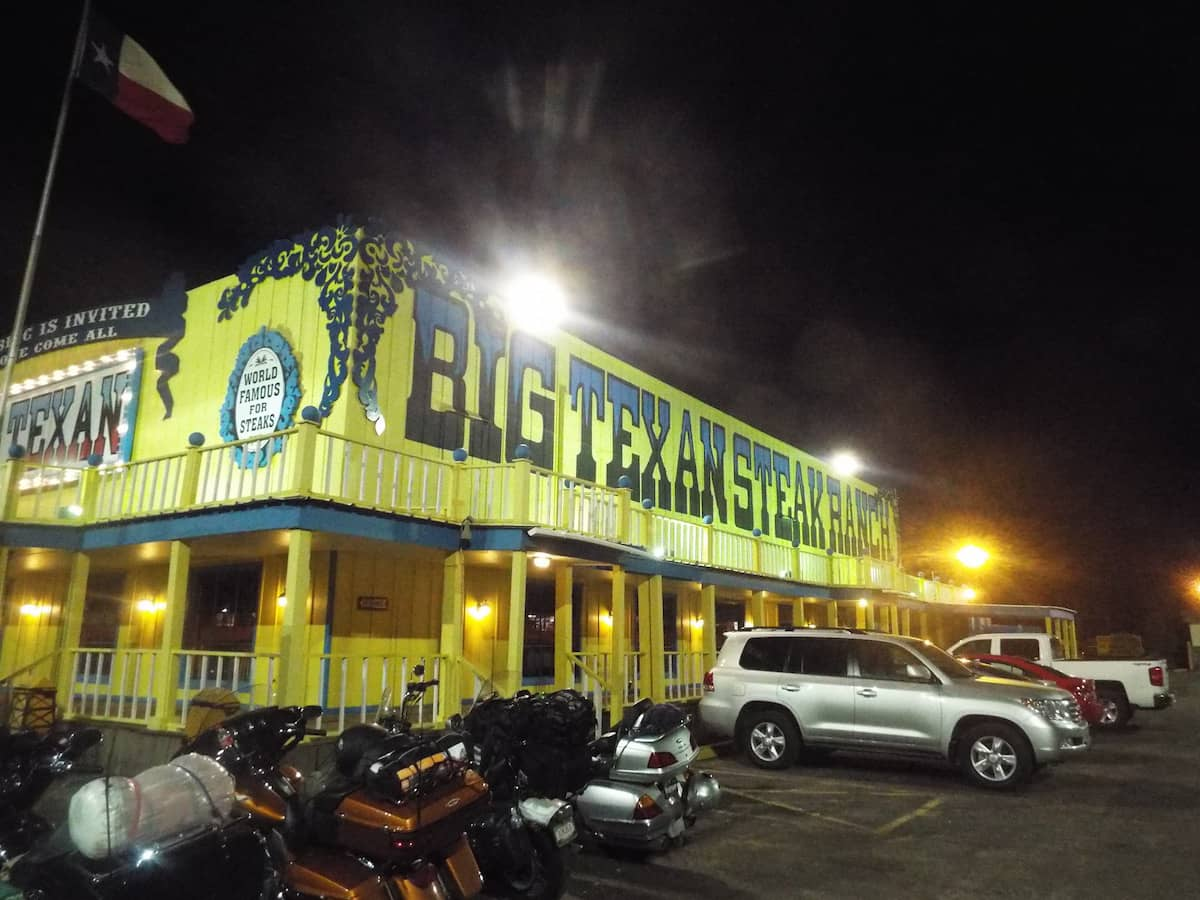 The Big Texan Motel in Amarillo Texas