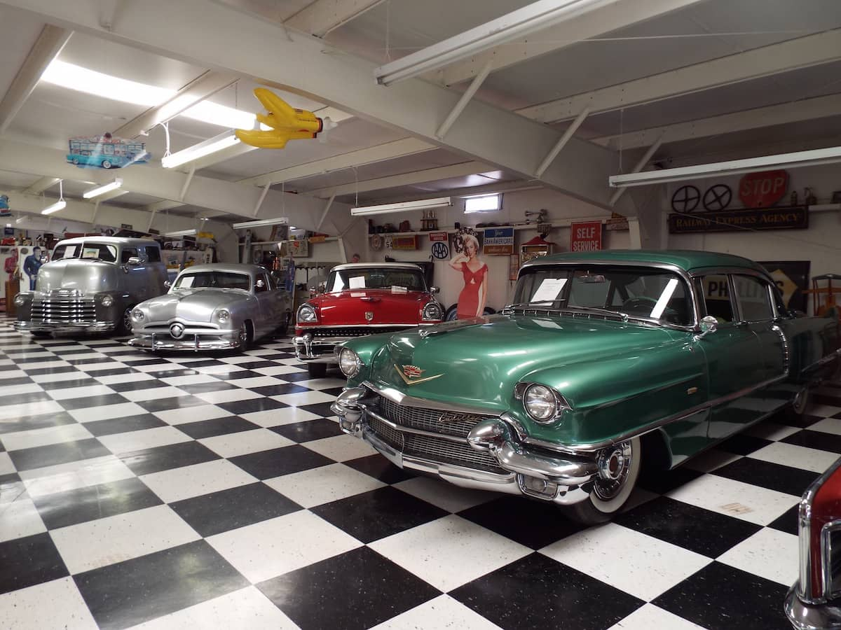 Route 66 Motor Museum in Santa Rosa New Mexico - packed full of vintage American cars and hot rods