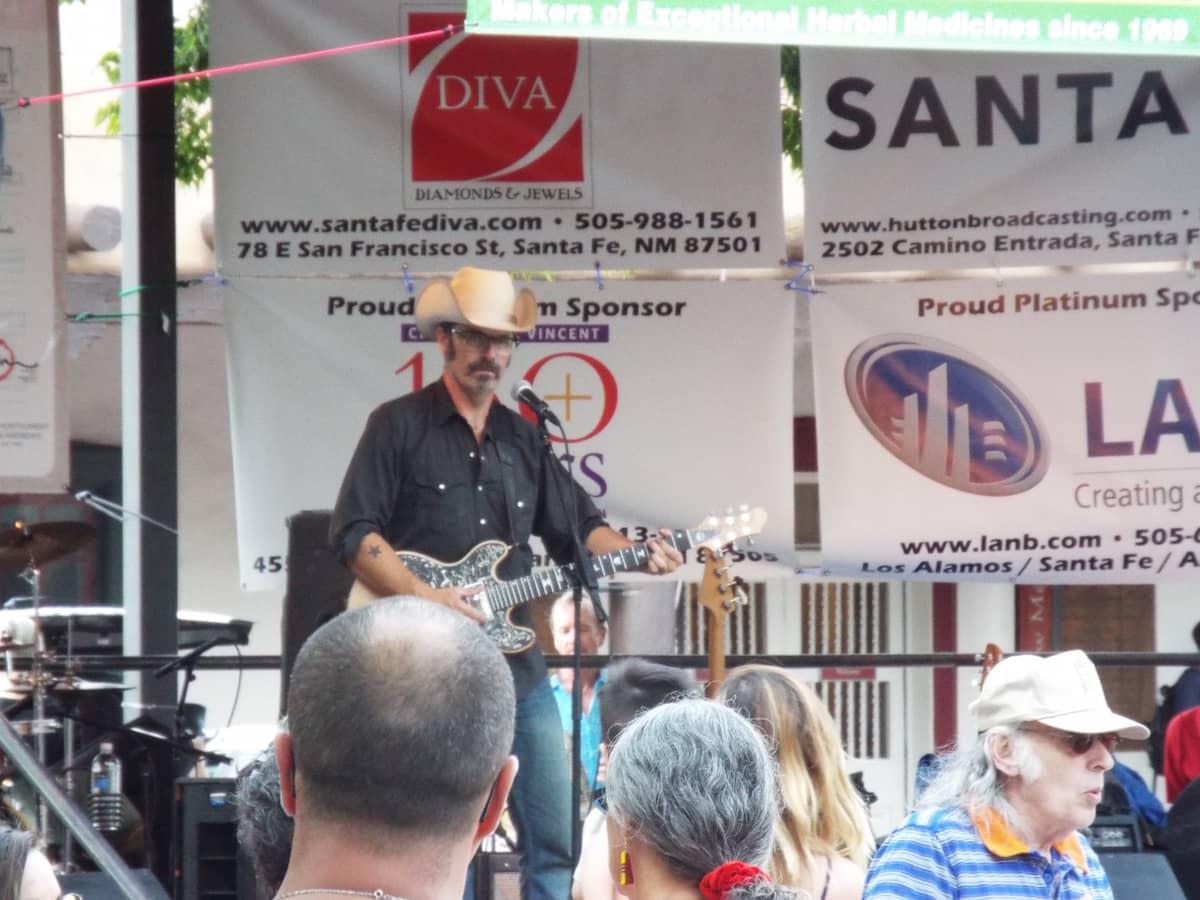 Live music in Santa Fe Town square