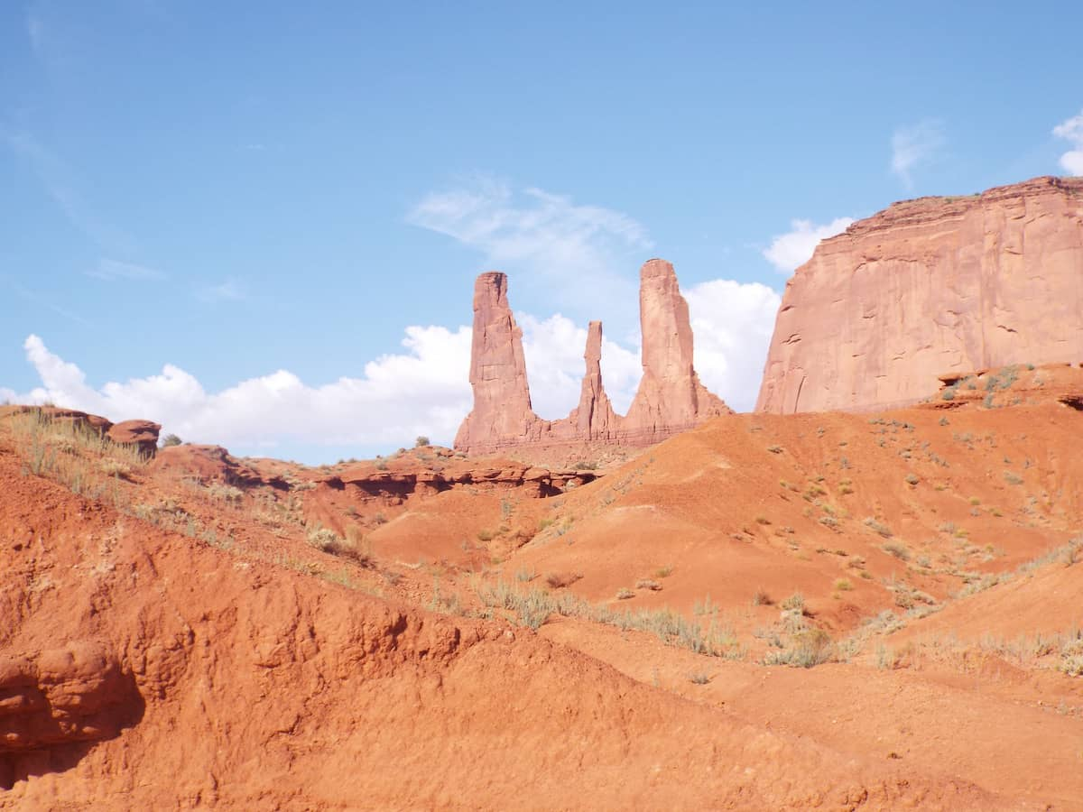 Monument Valley Three Sisters rock formation