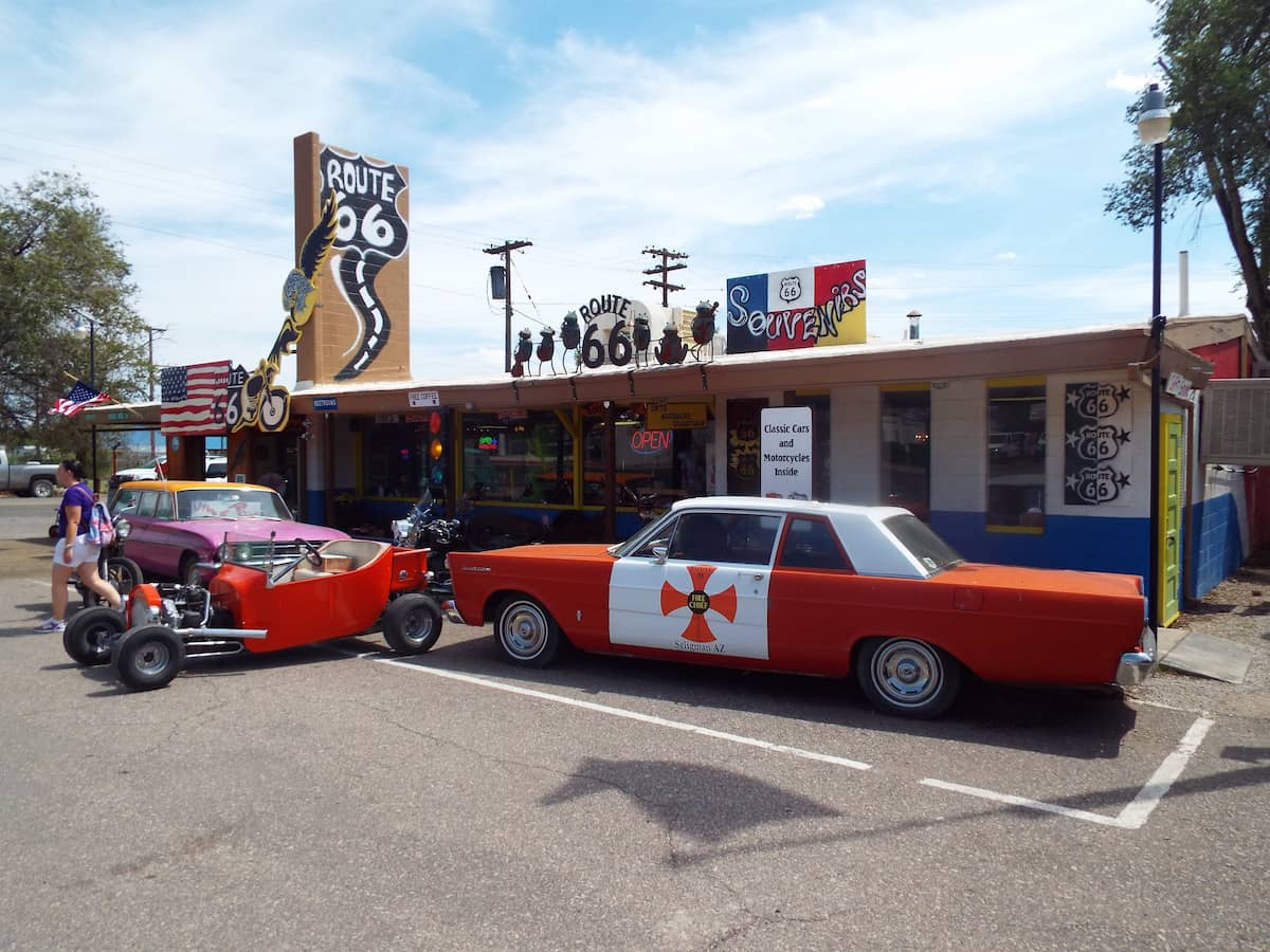 A route 66 trading post in Seligman