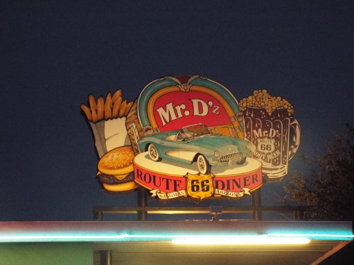 Mr D'z Route 66 Diner in Kingman Arizona