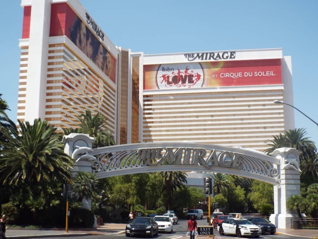 The Mirage hotel in las Vegas